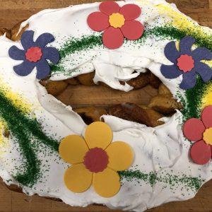 Flower Power King Cake